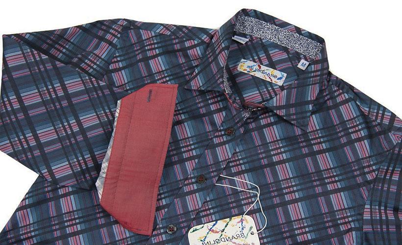 диагональный рубчик рубашка
