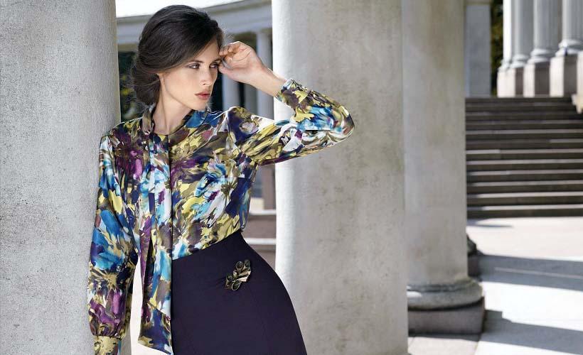 блуза из креп-жоржета