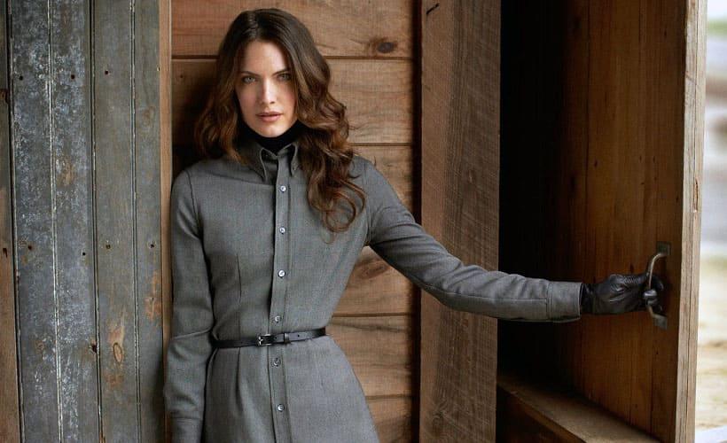 пальто из габардина с саржевым переплетением