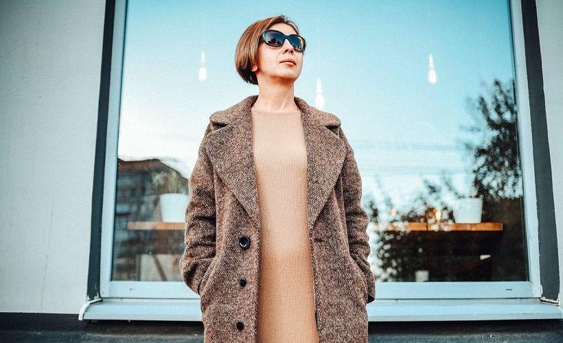 пальто из ткани бостон