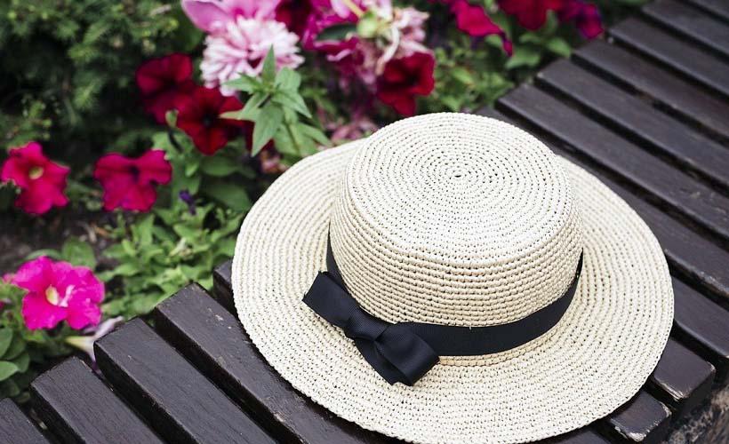 шляпа с репсовой лентой