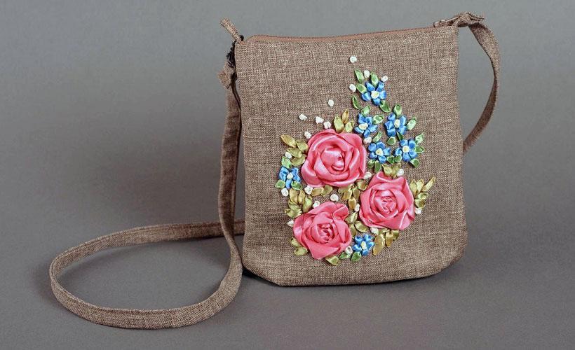 сумка из рогожки