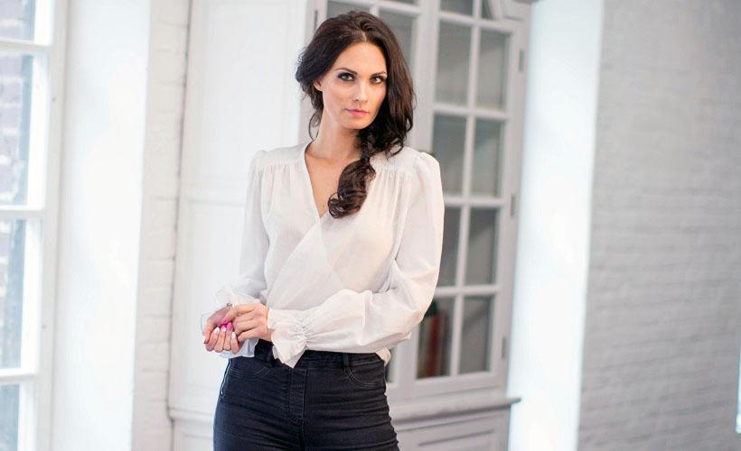 блуза из полиэстера