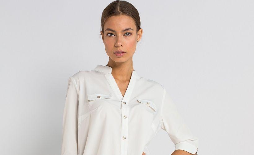 блуза из полисатина