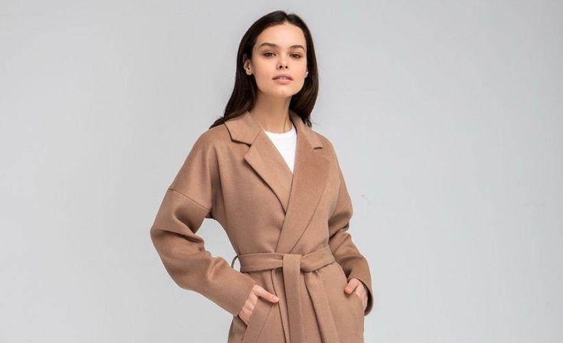 пальто из вискозы и полиэстера