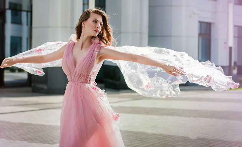 платье из вуали