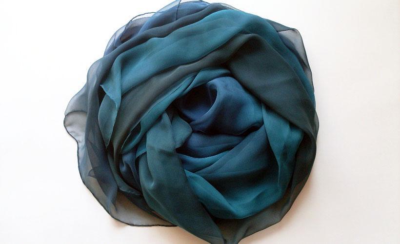платок из газовой ткани