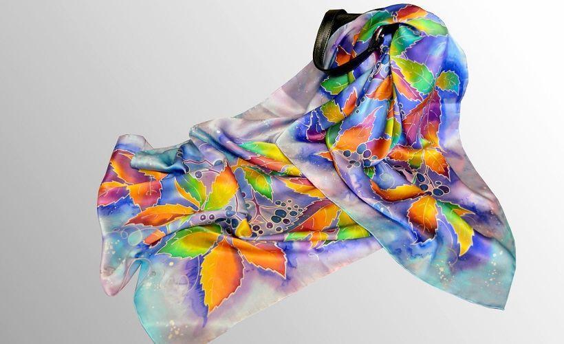 платок из искусственного шелка