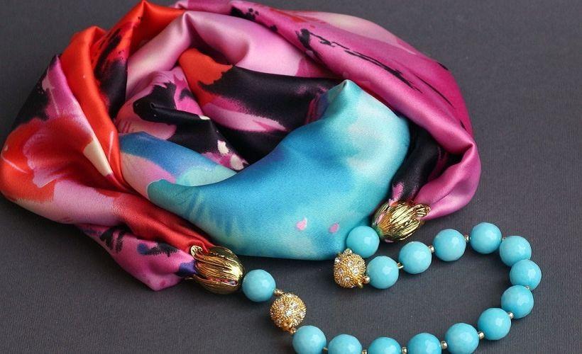 платок из шелка армани