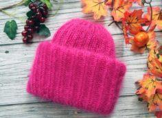 шапка из мохера