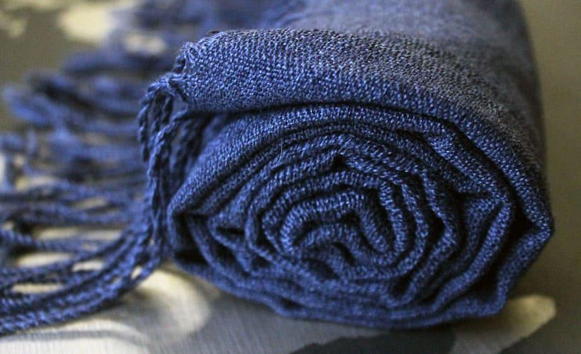 шарф из буретного шелка