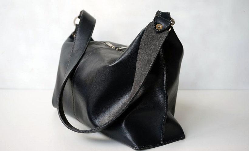 сумка из прессованной кожи
