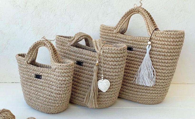 сумки из джута