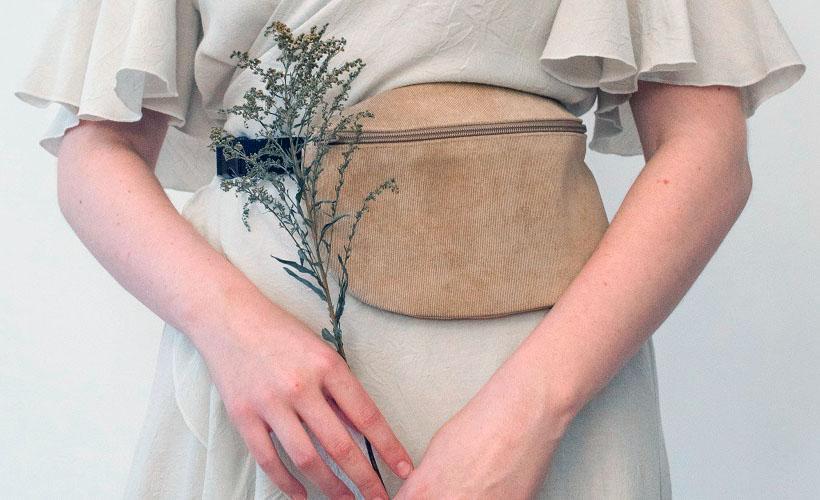 сумочка из вельвета