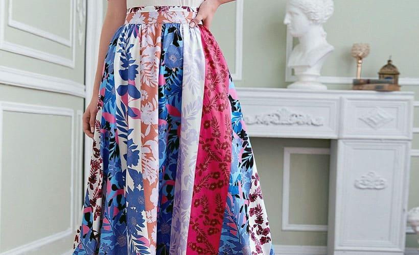 юбка штапель