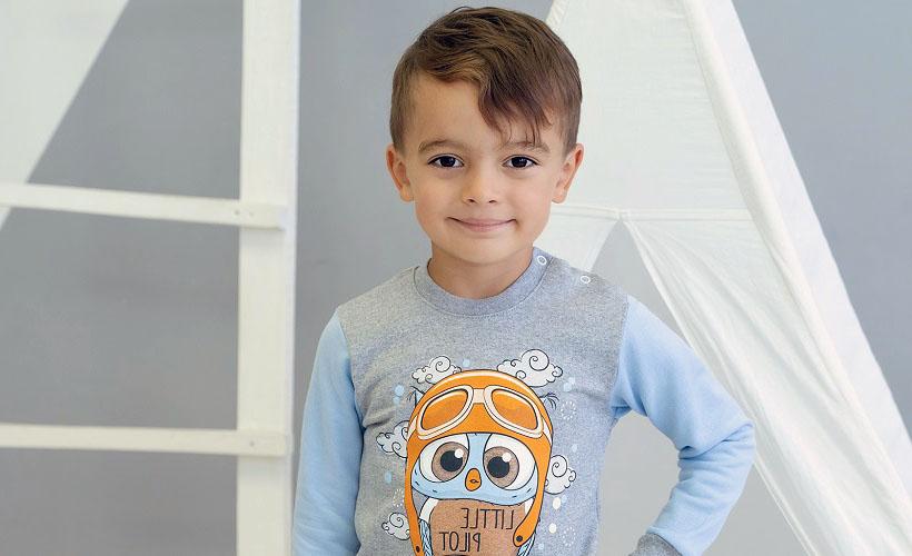 детский костюм футер с начесом