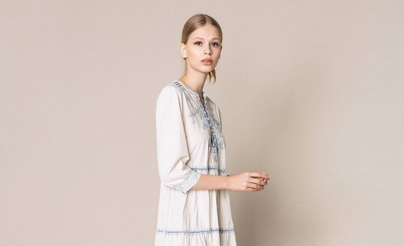платье из шамбре