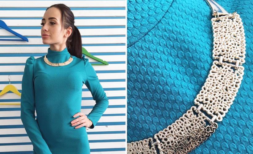 платье из ткани кукуруза