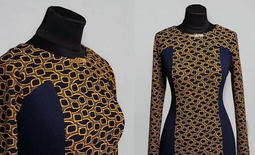 платье ткань кукуруза