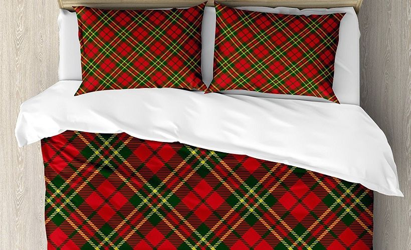 постельное белье ткань шотландка