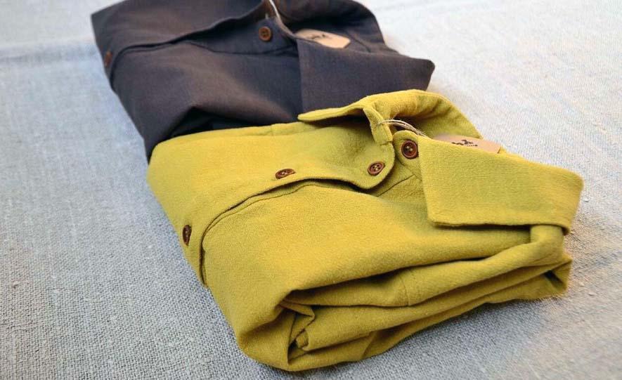 рубашка из конопляной ткани