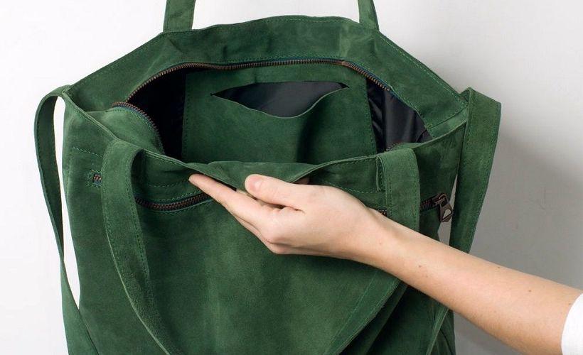сумка из кожи спилок