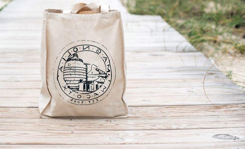 сумка из суровой ткани