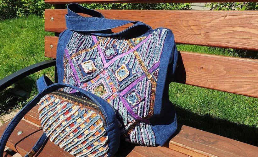 сумки в технике синель