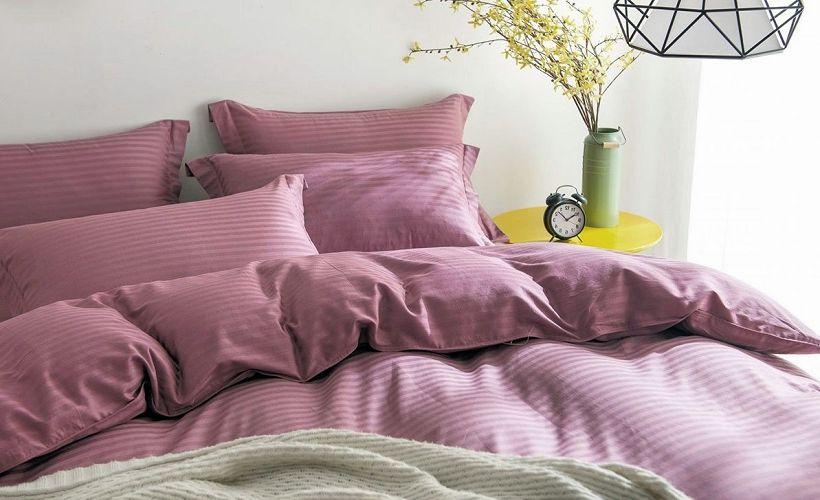 постельное белье страйп-сатин фото