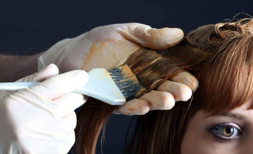 пятно от краски для волос