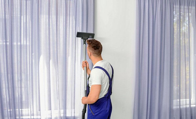 чистка штор пылесосом
