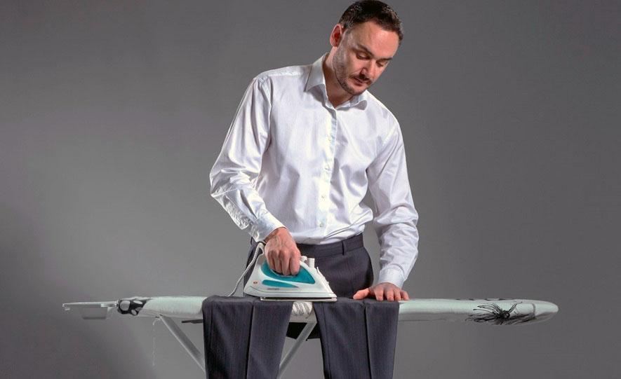 как гладить брюки