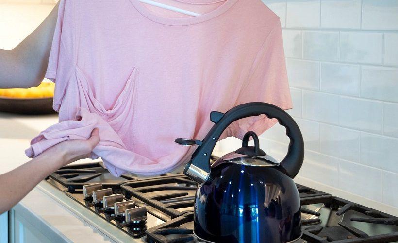 как погладить одежду паром