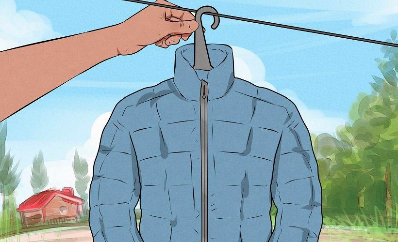 как сушить куртку