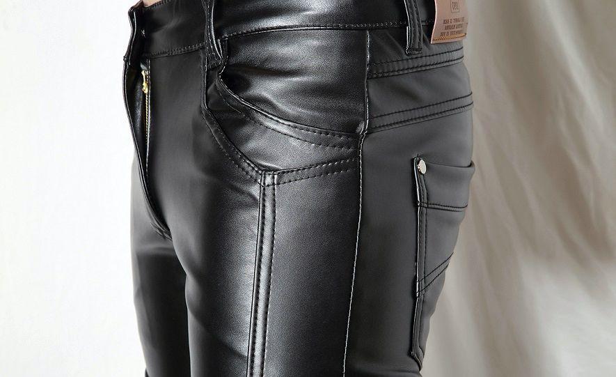 штаны из экокожи