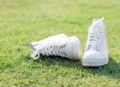 как отбелить обувь