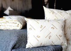 одеяло и подушки из овечьей шерсти