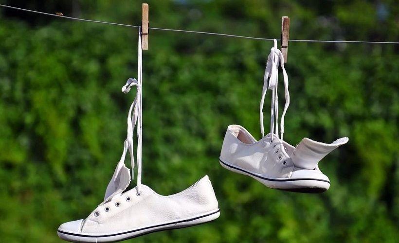 сушка обуви после стирки