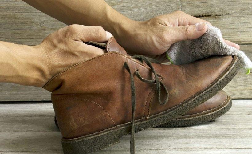 удаление соли с обуви