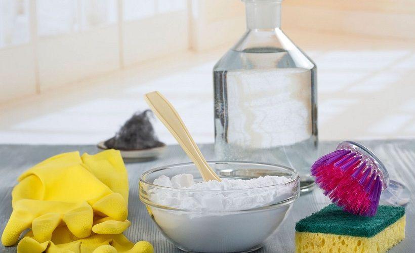 уксус с солью для удаления запаха пота