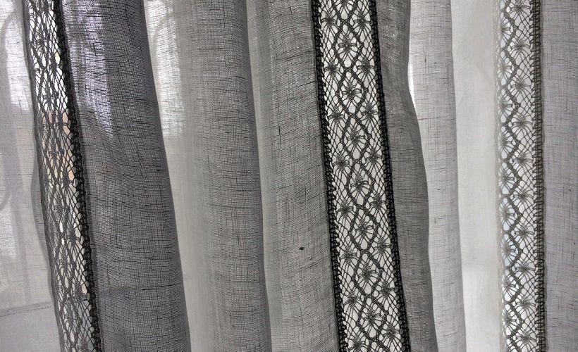 шторы льняные